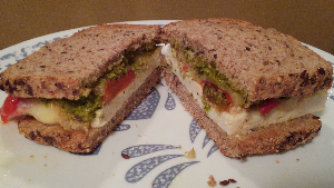 Baked Tofu Sandwich