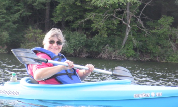 Total Human Performance means kayaking upstream after carrying your kayak!