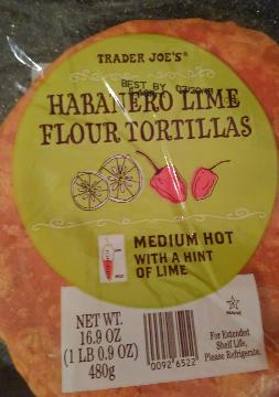 Trader Joe's Habanero Lime Flour tortillas